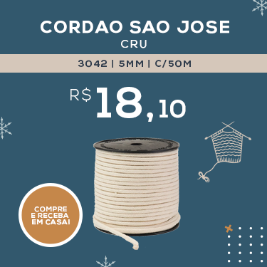 CORDAO SAO JOSE 3042 5MM C/50M CRU