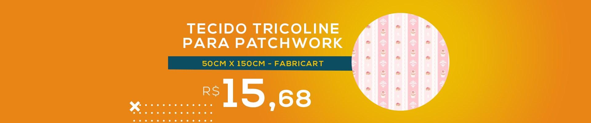 Tecido Tricoline Para Patchwork - 8312 - Cupcake Lace Rosa Cotton - 50cm x 150cm - Fabricart
