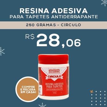 RESINA ADESIVA PARA TAPETES ANTIDERRAPANTE - 250 GRAMAS - CIRCULO