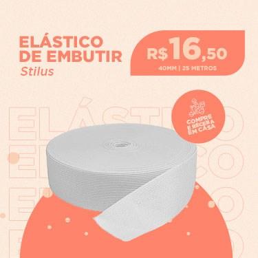 ELASTICO CROCHET STILUS 40MM BRANCO COM 25 METROS