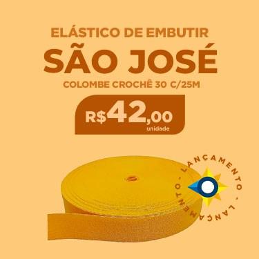 ELASTICO SAO JOSE COLOMBE CROCHE 30 C/25M.COR