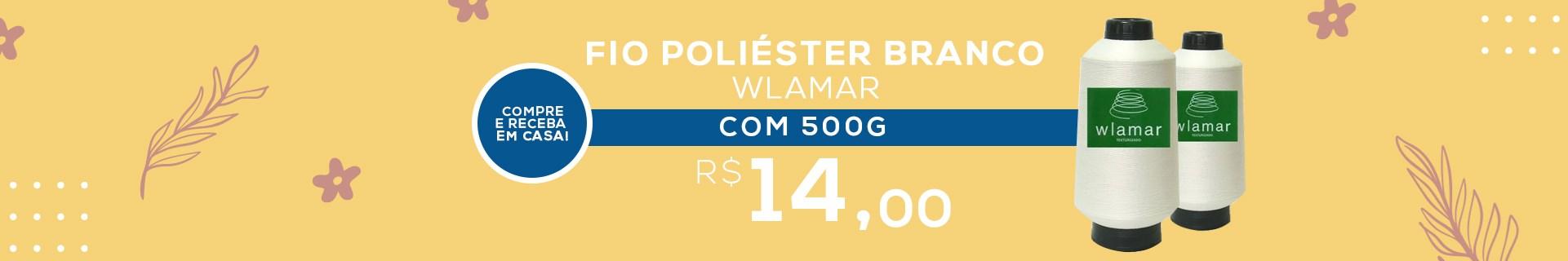 FIO DE POLIÉSTER BRANCO WLAMAR COM 500 GRAMAS