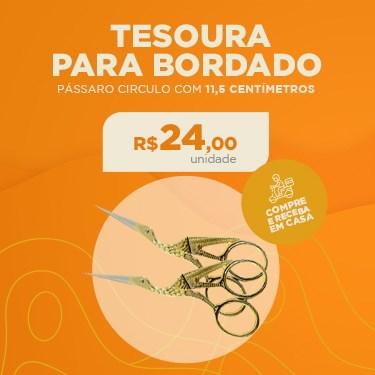 TESOURA PARA BORDADO PÁSSARO CIRCULO COM 11,5 CENTÍMETROS