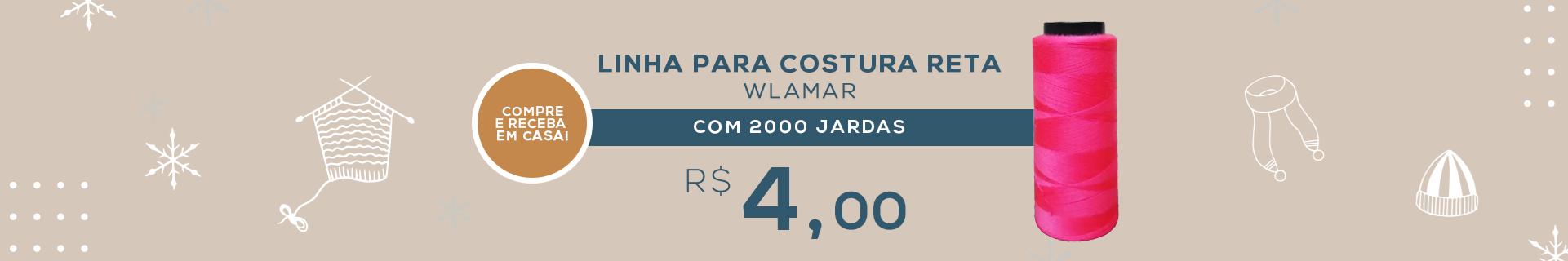 LINHA PARA COSTURA RETA WLAMAR 120 COM 2000 JARDAS