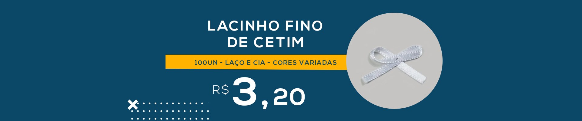 Lacinho Fino de Cetim - 100un - Laço e Cia