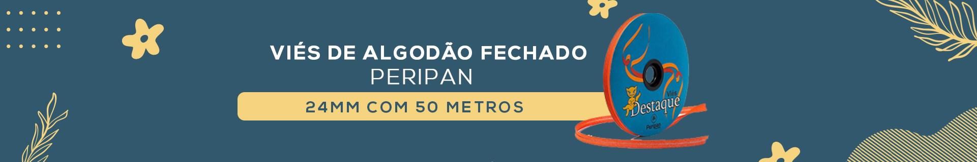 VIÉS DE ALGODÃO FECHADO PERIPAN 24MM COM 50 METROS A9000