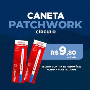 CANETA PATCHWORK PARA TECIDO COM TINTA REMOVÍVEL - 0,8MM - PLÁSTICO ABS - CÍRCULO