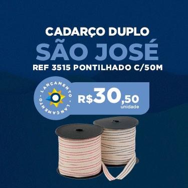 CADARCO SAO JOSE 15MM 3515 PONTILHADO DUPLO C/50M