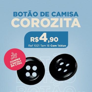 BOTÃO DE CAMISA COM 4 FUROS COROZITA 1021 TAMANHO 18 COM 144 UNIDADES