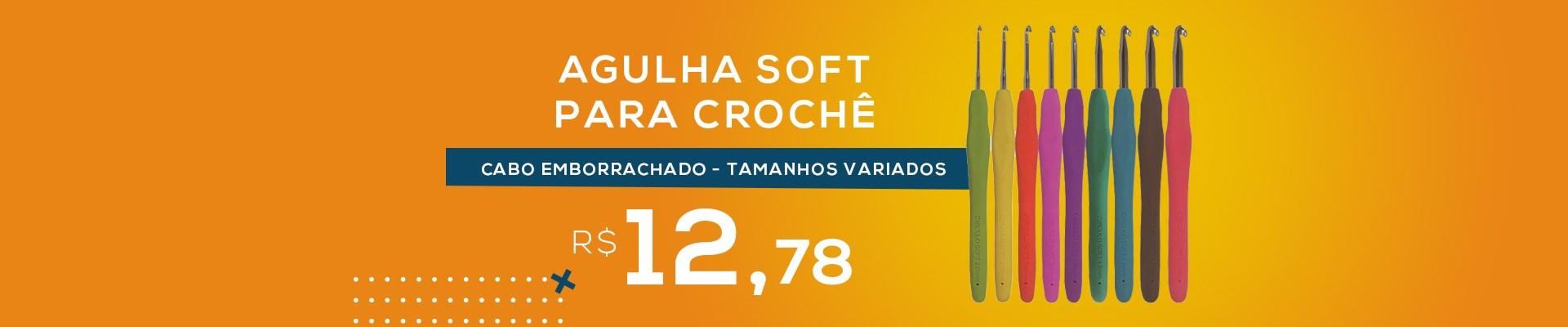 Agulha Soft Para Crochê - Cabo Emborrachado - Tamanhos Variados - Círculo