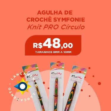 AGULHA DE CROCHÊ 8MM A 10MM KNITPRO SYMFONIE CÍRCULO