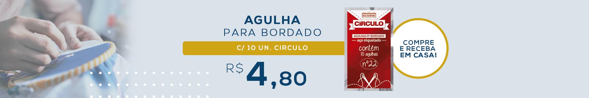 AGULHA PARA BORDADO C/10UN. CIRCULO