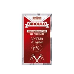 AGULHA DE COSTURA CIRCULO N.01 C/20UN