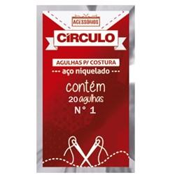 AGULHA PARA COSTURA N.01 COM 20 UNIDADES - CÍRCULO