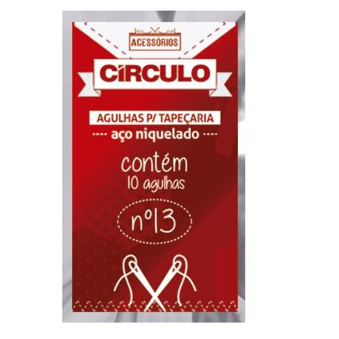 Agulha Para Tapeçaria - 13MM - C/10Un. Circulo