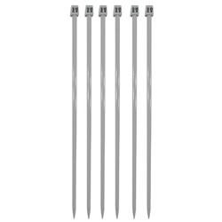 Agulha Para Tricô - 3mm - 3,5mm - 100% Alumínio - 35cm - Nacional - Círculo