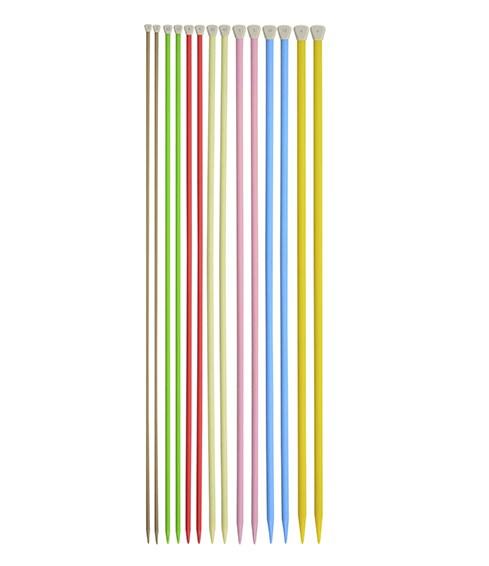 Agulha Para Tricô - Tamanhos Variados - 100% Plástico - 25cm - Círculo