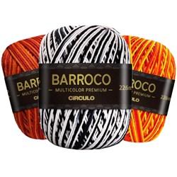 Barbante Barroco Multicolor Premium Círculo Com 200g e 226 Metros