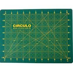 Base Para Corte de Tecidos Verde - 30cm x 22cm - Circulo