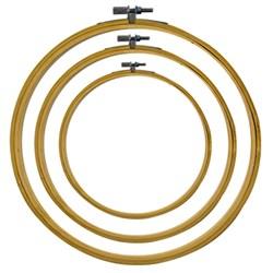 Bastidor de Bambu com Regulador - Número 7 - 17,7 cm - Círculo