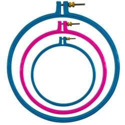 Bastidor de Plástico com Regulador - Número 4 - 10,1 cm - Círculo