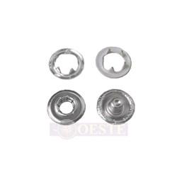 Botão de Pressão - 9mm - 7095-35L - Latão - Branco 4201 - 1000un - Eberle