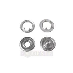 Botão de Pressão - 9mm - 7095-35L - Latão - Branco 4201 - 2000un - Eberle