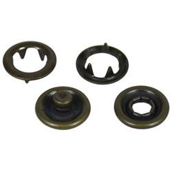 Botão de Pressão - 9mm - 7095-35L - Latão - Ouro Velho Total - 1000un - Eberle