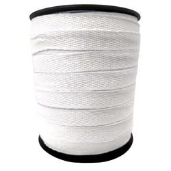Cadarço Sarjado Branco 3010 100% Algodão 10mm c/ 50 Metros São José