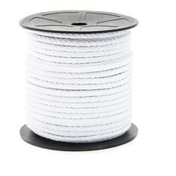 Cordão Trançado Branco CA5 100% Algodão 5mm c/ 50 Metros Marwan