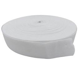 Elástico de Embutir Branco Plus 30mm c/ 25 Metros Elastok