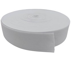 Elástico de Embutir Branco Plus 50mm c/ 25 Metros Elastok