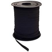 Elástico de Embutir - Conde Tinto - Preto - 7,5mm - 100 metros - Tekla