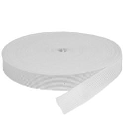 Elástico de Embutir - Jaraguá 25 - Branco (Cru) 24mm - 25 metros - Zanotti