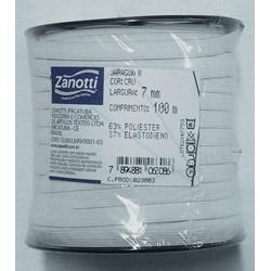 Elástico de Embutir - Jaraguá 8 - Branco (Cru) 7mm - 100 metros - Zanotti