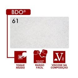 Entretela Para Bordado Sem Cola - BDO 61 - Gramatura 38 - Branca - 100 metros - Fiorella