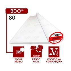 Entretela Para Bordado Sem Cola - BDO 80 - Gramatura 45 - Branca - 100 metros - Fiorella