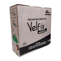Fecho de Contato c/ Velcro Adesivo 25mm c/ 10 Metros Velfix