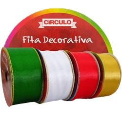 FITA CETIM CIRCULO C/BORDA DOUR.38MM C/10M
