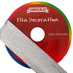FITA DECORATIVA ESP. CIRCULO PRATA 22MM C/10M