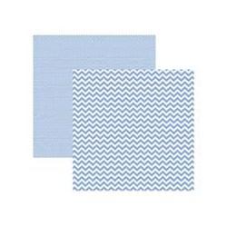 Folha Scrapbook Basica Chevron Azul Serenity - Toke e Crie