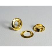 Ilhós Com Arruela - 222/15 (150.075.050.L) - Latão - Dourado Total - 1000un - Eberle