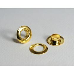 Ilhós Com Arruela - 222/17 (175.090.055.F) - Ferro - Dourado Total - 1000un - Eberle