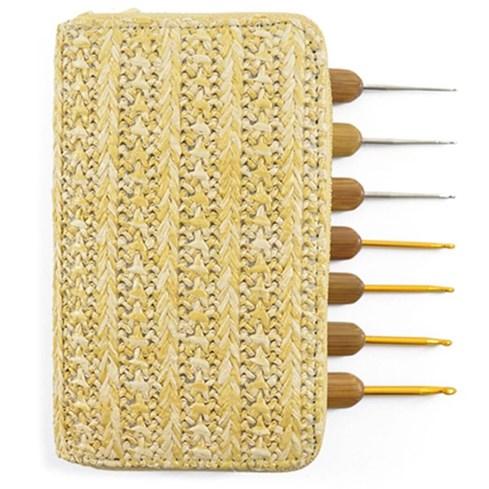 Kit Agulhas de Crochê Bambu - Com 7 Unidades - Circulo