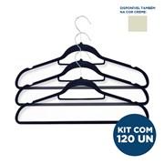 Kit Cabide de Veludo - Slim - Adulto - com 120un - VMH