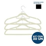 Kit Cabide de Veludo - Slim - Adulto - com 30un - VMH