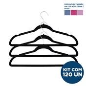 Kit Cabide de Veludo Slim Infantil com 120un Importado