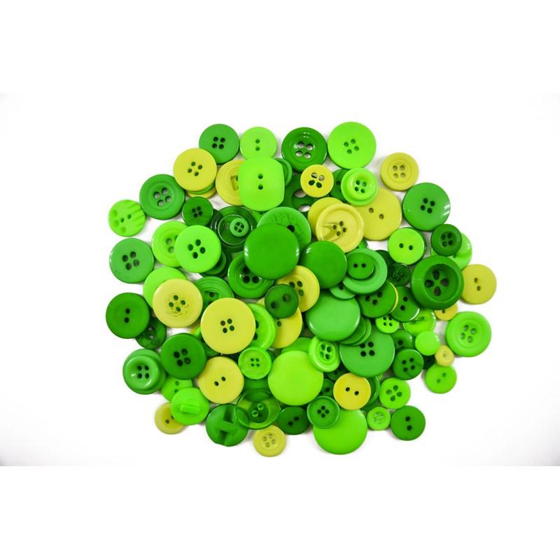 Kit de Botões Divertidos Coloridos - Tamanhos e Cores Variados - 20gr - Círculo