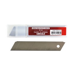 Lâmina Para Estilete Comfort - 18mm - 10 unidades - Circulo
