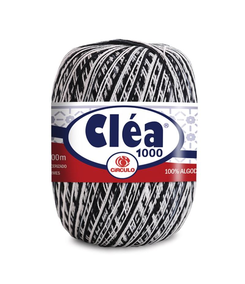 Linha de Crochê - Cléa 1000 - Cores Mesclas - 1000 metros - 100% Algodão - Círculo